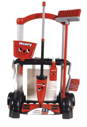 Casdon - HENRY CLEANING TROLLEY - Real Life Fun & Play - NEW